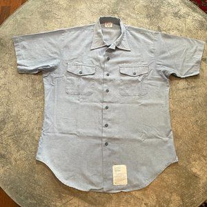 Vintage Navshirt Light Blue Short Sleeve Button Up